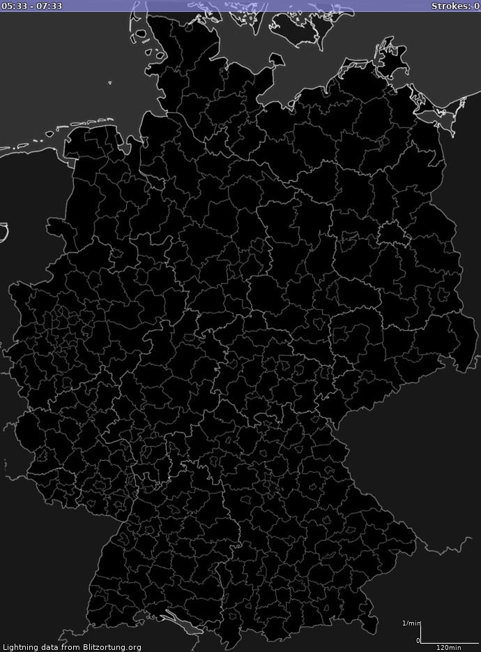 Lightning map Germany -